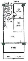 桑田町パークマンション[1階]の間取り