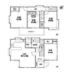 [一戸建] 神奈川県相模原市南区古淵5丁目 の賃貸【/】の間取り