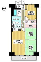 間取り(リビング横の和室は、個々の部屋としても仕切りを外して1つの部屋としてもご利用いただけます)