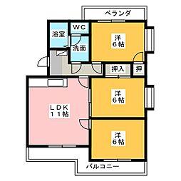 エクセルシオールII[4階]の間取り