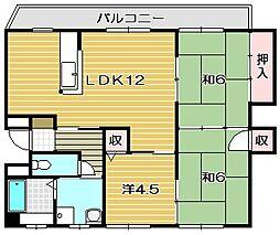 レジデンスサンシャイン[3階]の間取り