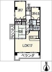 ユートピア小豆坂壱番館501号[5階]の間取り