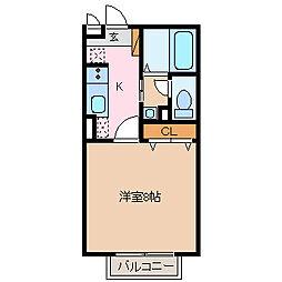 エクセレントタウン・村井B[1階]の間取り