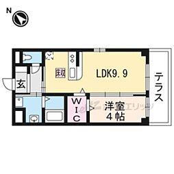 JR東海道・山陽本線 岸辺駅 徒歩12分の賃貸マンション 1階1LDKの間取り