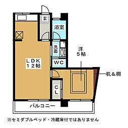 第2豊隆堂ビル[5階]の間取り