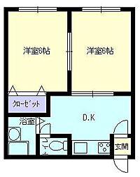 菅商マンション[202号室]の間取り