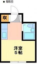 エクセレントアパートメントKNST[1階]の間取り