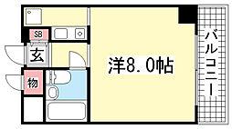 ライオンズマンション神戸西元町[6階]の間取り
