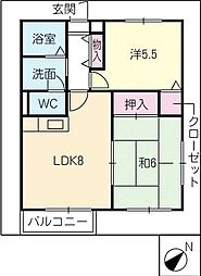 MapleKA棟[2階]の間取り