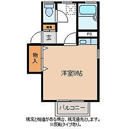 コーポピクル[2階]の間取り