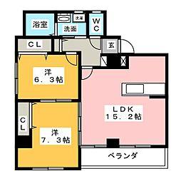 コート本山[3階]の間取り
