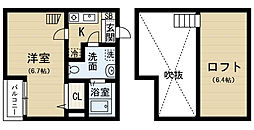 アパートメントU(アパートメントユー)[1階]の間取り