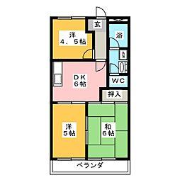 エスポワール垂坂[2階]の間取り
