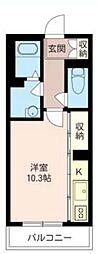 Villa Portier[3階]の間取り