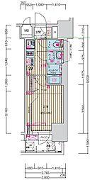 名古屋市営鶴舞線 丸の内駅 徒歩7分の賃貸マンション 9階1Kの間取り
