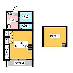 FLATS HAMAMATSU[1階]の間取り
