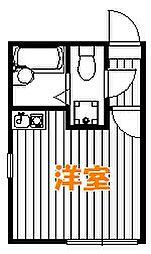 東京都足立区中川1丁目の賃貸アパートの間取り
