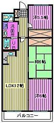 ルミール篠田[2階]の間取り