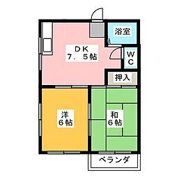 エクセル中野[2階]の間取り