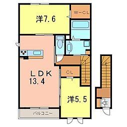 メゾンMINAMI[2階]の間取り