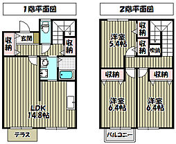 [タウンハウス] 大阪府堺市中区土師町4丁 の賃貸【/】の間取り