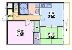 なつみ館[5階]の間取り
