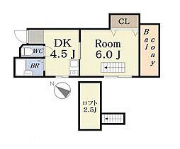 ロータリー49[5階]の間取り
