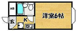大阪府大阪市東淀川区大桐3丁目の賃貸マンションの間取り