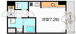 トレヴァンス梅田[8階]の間取り
