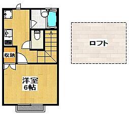 東京都世田谷区太子堂3丁目の賃貸アパートの間取り