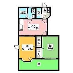 オリオンA[1階]の間取り