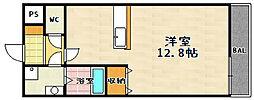 新風館[605号室]の間取り