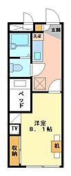 兵庫県高砂市高砂町木曽町の賃貸アパートの間取り