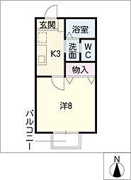 ヴィレッジタカミドーA棟[1階]の間取り