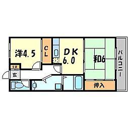兵庫県尼崎市東本町2丁目の賃貸マンションの間取り