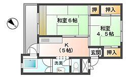 滋賀県彦根市鳥居本町の賃貸マンションの間取り