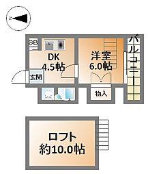 ウインライフ滝井[7階]の間取り