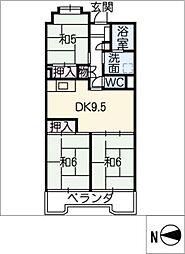 ビレッジハウス木場タワー[1階]の間取り