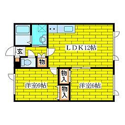 イエローハウス[2階]の間取り