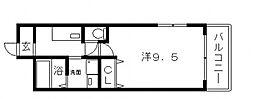フジパレス長居III[3階]の間取り