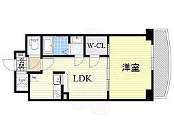 Osaka Metro御堂筋線 新大阪駅 徒歩5分の賃貸マンション 22階1LDKの間取り