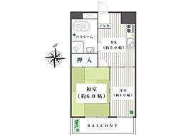 東京都青梅市東青梅3丁目の賃貸マンションの間取り