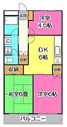 サニーハイム和田[2階]の間取り