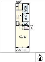 ツチヤマンション別館[1階]の間取り