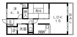 ベルドミール桜ヶ丘[402号室号室]の間取り