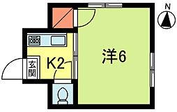 登喜和荘[2階]の間取り