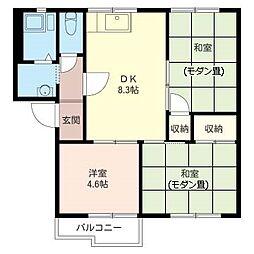 リバーサイド須田 B[2階]の間取り