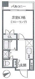 旭レジデンス羽田 bt[502号室]の間取り