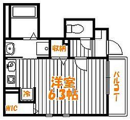 東京都葛飾区西新小岩5丁目の賃貸アパートの間取り