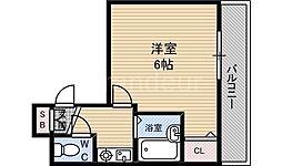 ラ・フォーレ京橋[4階]の間取り